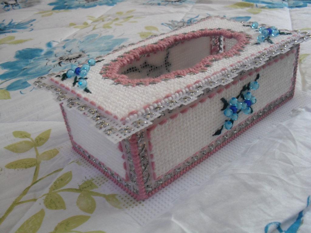 立体十字绣  抽纸盒